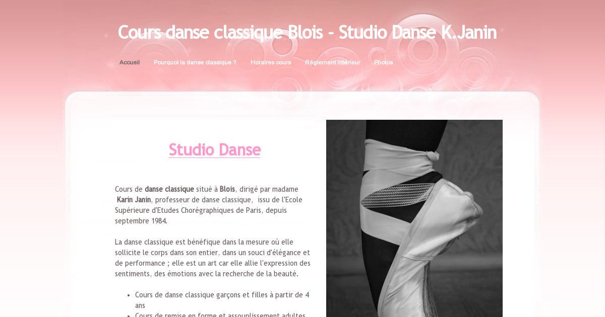 cours danse classique blois - studio danse k janin